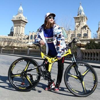 KUBEEN  mountain bike 26-inch steel 21-speed bicycles dual disc brakes variable speed road bikes racing bicycle 1