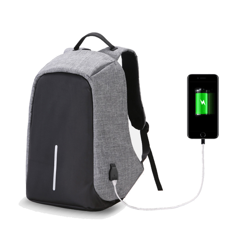 USB Charging School Bag Anti-theft Backpack For Men College Students Laptop Luminous Bags Camera Nylon Waterproof Travel B