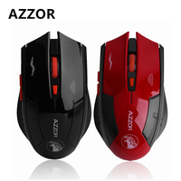AZZOR Rechargeable 2400DPI Super Quiet Gaming Mouse Wireless Optical Game Office Mouse Mice For PC Laptop