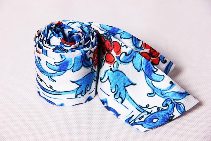 S-4XL haute qualité 2019 nouvelle mode piste bleu et blanc impression perlé à la main col en v à manches longues lâche ourlet fente robe femmes - 6