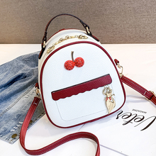 HIFAR 2019 Women Leather Backpack Children Mini Cute Panelled Backpacks for Teenage Girls Small Bag