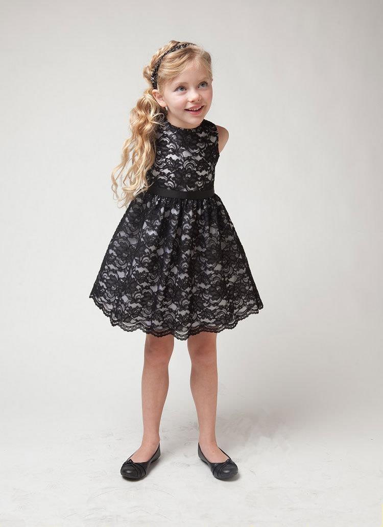 2017 summer girl dresses wedding party children lace dress