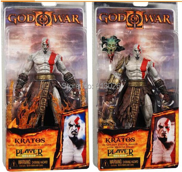 18cm God of War 2 II Kratos Flame Action Figures PVC brinquedos Collection Figures toys with Retail box