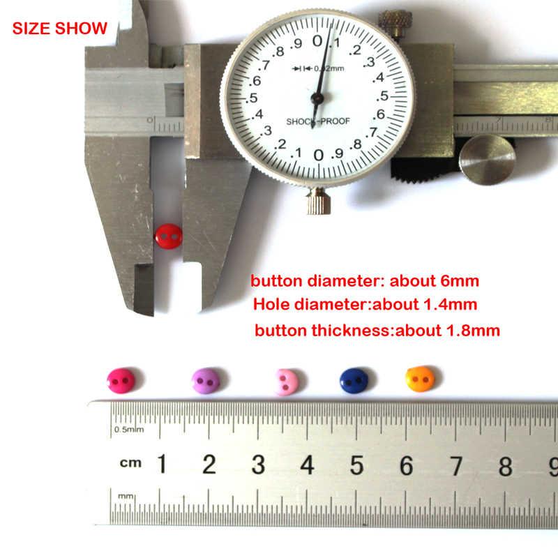 600 개/몫 6mm 라운드 수지 미니 작은 단추 바느질 도구 장식 단추 Scrapbooking 의류 DIY 의류 액세서리