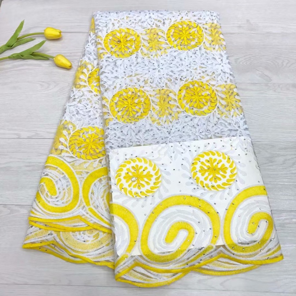 New Design stone Lace Fabric High Quality yellow color Latest African Lace 2018 Lace Fabric For wedding dressNew Design stone Lace Fabric High Quality yellow color Latest African Lace 2018 Lace Fabric For wedding dress