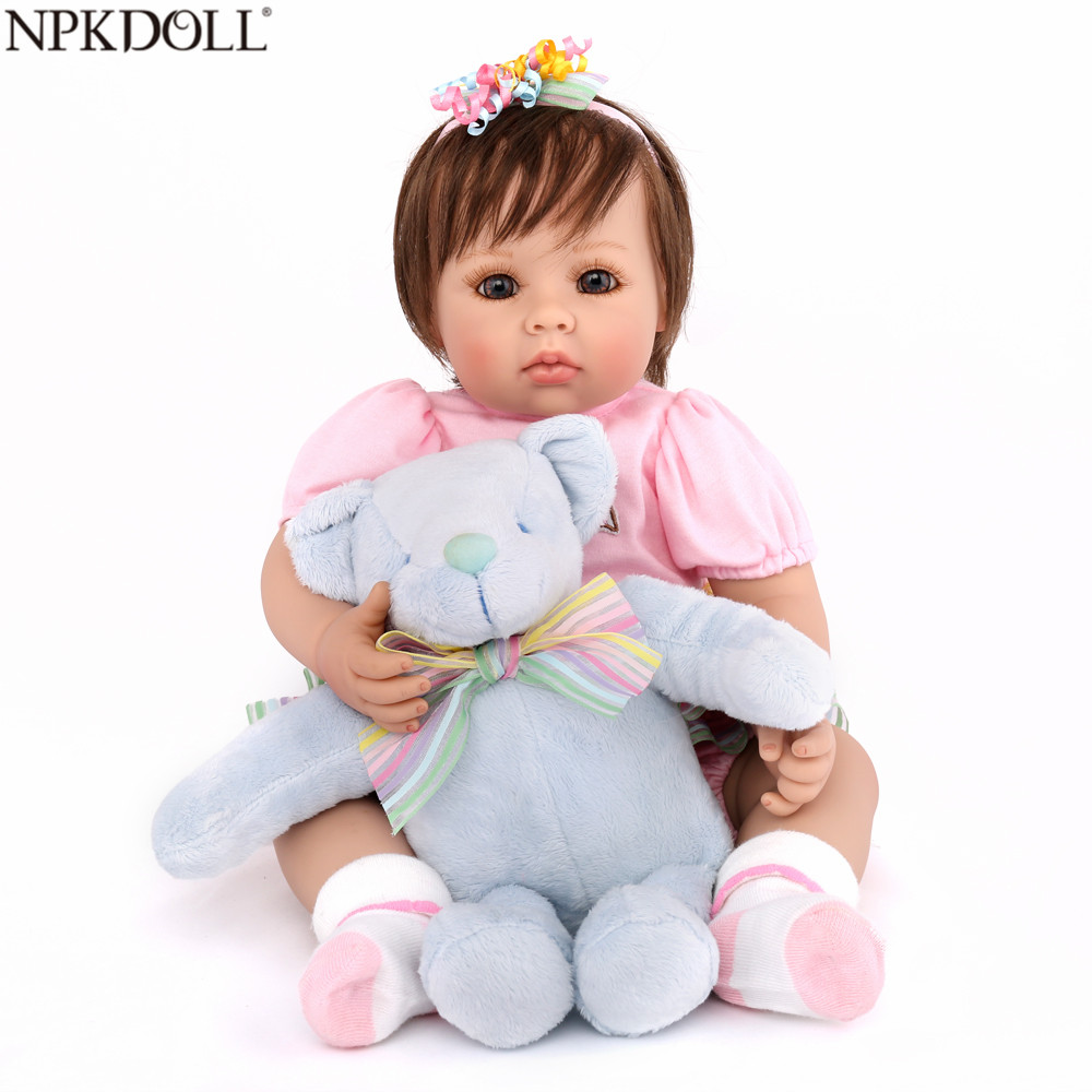 NPKDOLL Reborn Baby Doll Adorable Girl Princess 20 inch Soft Silicone Toys Kids Playmate Boys Birthday