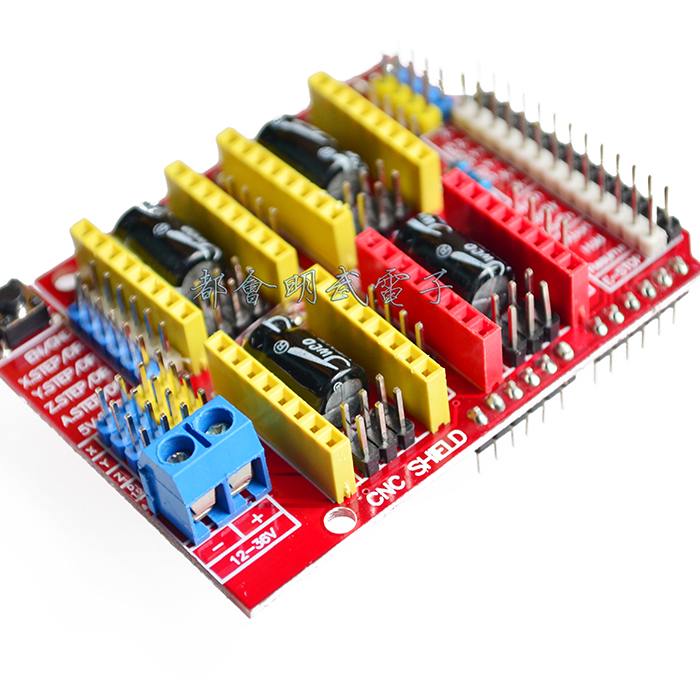 New Product CNC Shield V3 Engraving Machine Expansion Board 3D Printer A4988 Driver Board Lahore