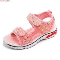 b63136c0e Kids Sandals Summer Girls Sandal Princess Shoes Anti Slip Baby Sandal  Toddler Black Shoes For Girls. Crianças Sandálias de Verão ...