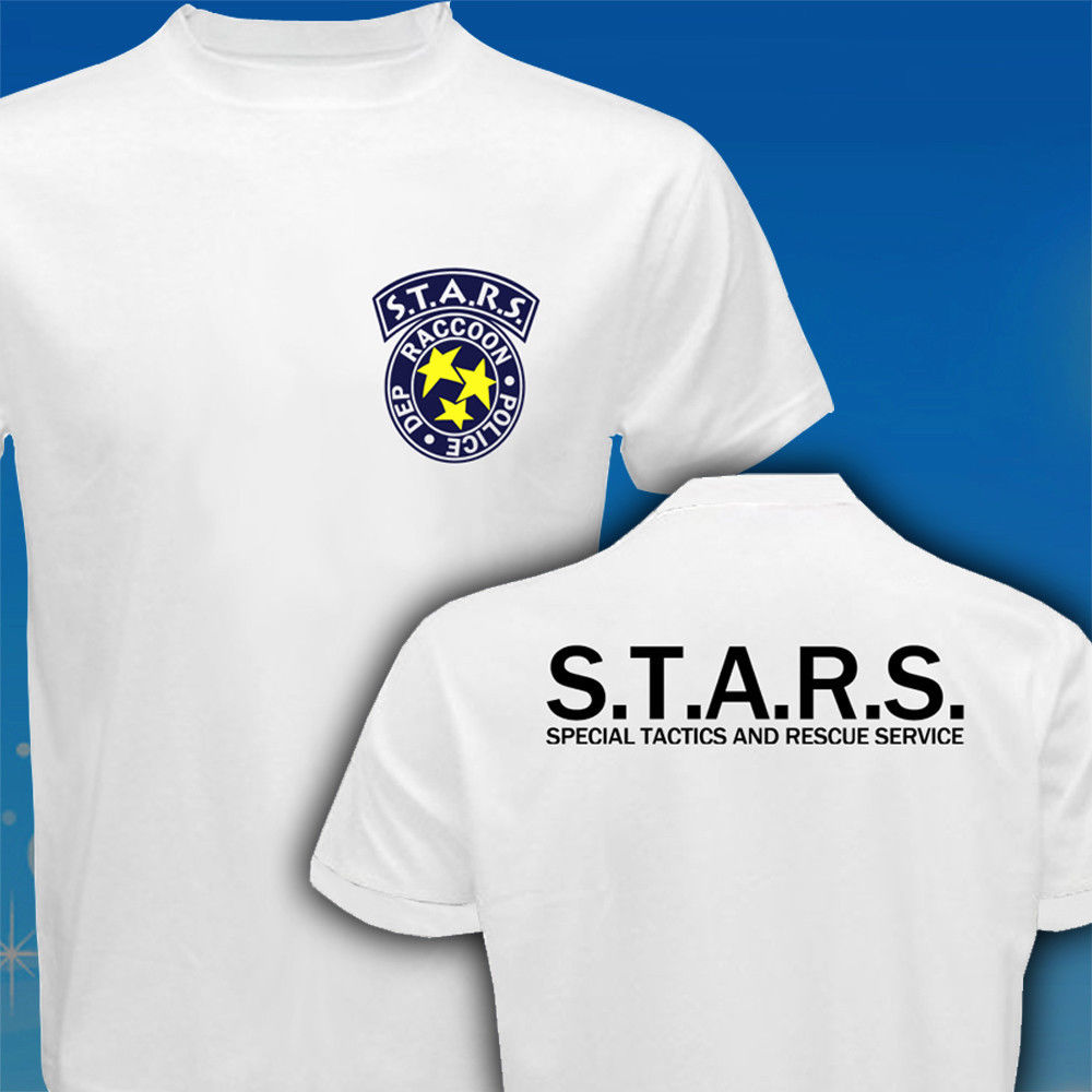 STARS Resident Evil Paraply Corp Biohazard Polis T-shirt Mäns 2017 - Herrkläder - Foto 4