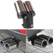 Car Tail Pipe Stainless Steel Automobile Exhaust Pipe Twin Tail Pipes Car Accessories