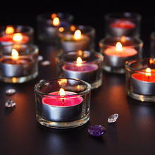 Windproof Glass Candle Holder Small Transparent Tealight Container Decoration For Home Porta Candele Vetro 50KO252