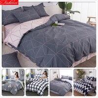 Simple Style 3/4 pcs Bedding Set Duvet Cover Bed Linen Soft Cotton Quilt Comforter Pillow Case Bedspreads Single Queen King Size