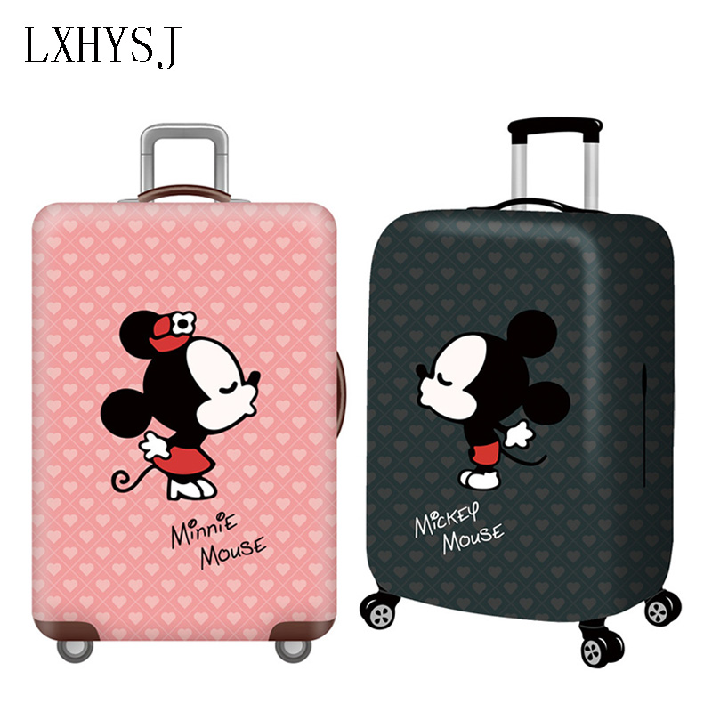 Mini Mickey Luggage Cover Elastic Luggage Protective Covers For 18-32 Inch Suitcase Case Baggage Cover Travel Accessories