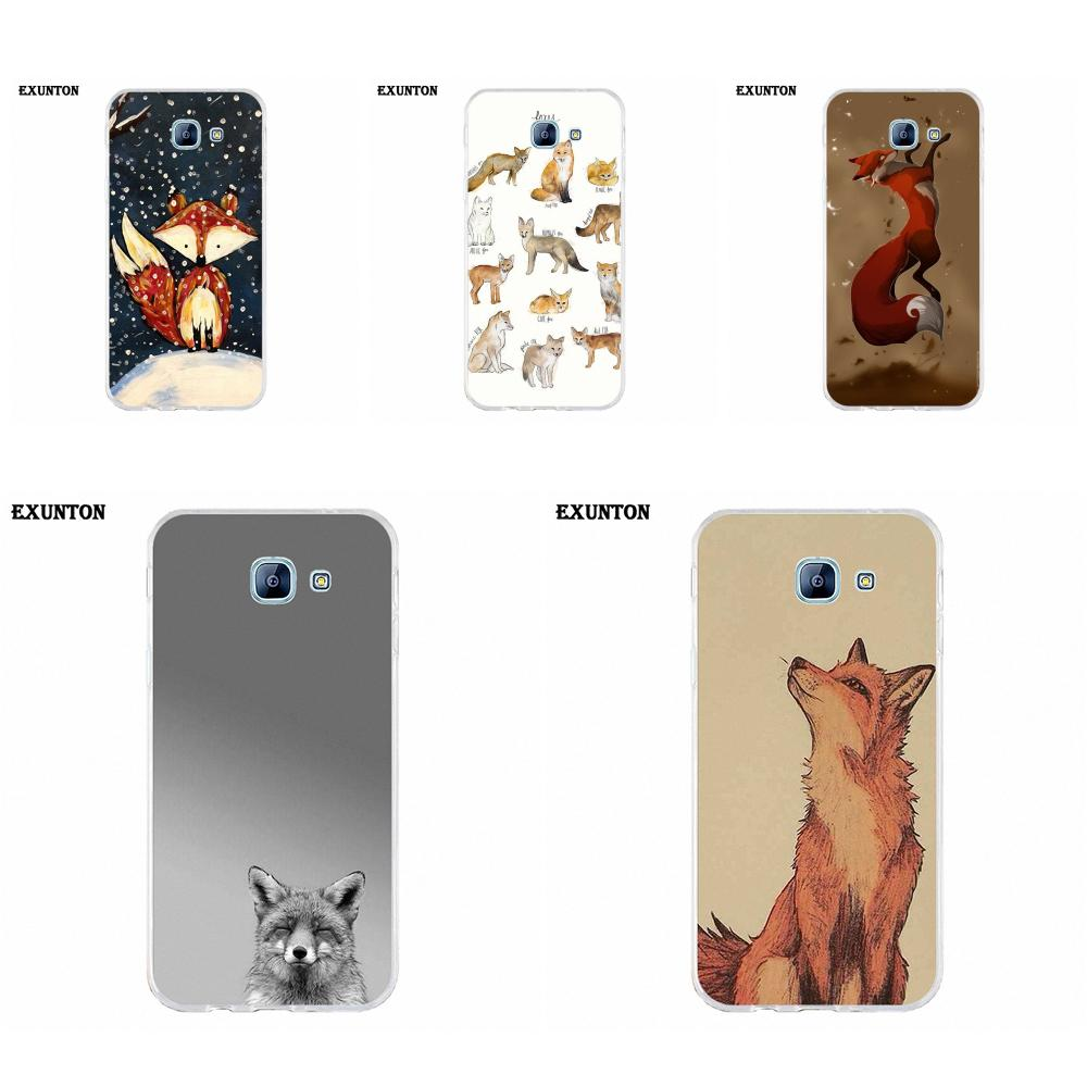 Soft Case Cover For Galaxy A3 A5 A7 A8 A9 A9S On5 On7 Plus Pro Star 2015 2016 2017 2018 Like Cute Animals Foxes Red Fox image