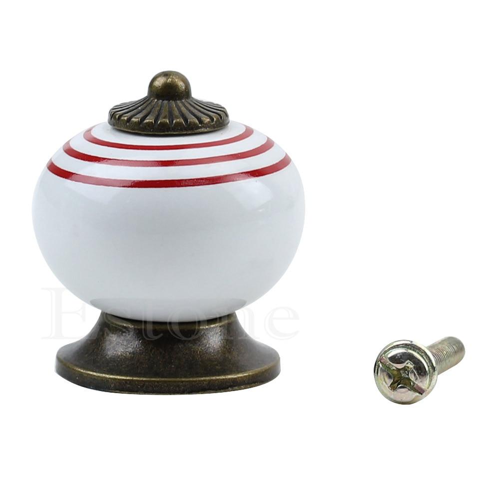 2018 Fashion Retro Vintage Round Ceramics Drawer Knob Handle Cabinet Cupboard Door Pull Decor