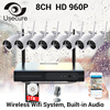 USECURECH CCTV Plug And Play 8CH Wireless NVR Kit P2P 960P HD Outdoor IR Night Vision