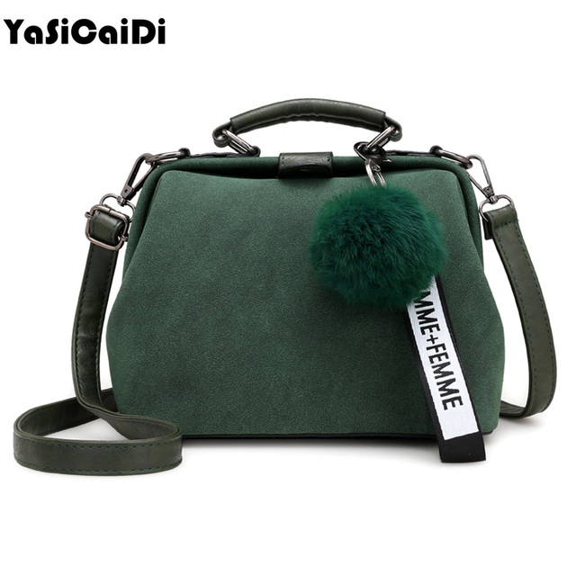 c5857542b7 Fashion pu Leather Women Handbags Suede Leather Top-Handle Bag Business  Doctor Hasp Totes Bags Full Ball Women Messenger Bag