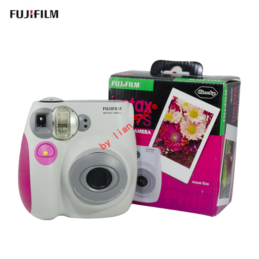 original Fujifilm Instax Mini 7s 7C new Instant Film Photo Camera Blue and Pink appareil photo instax mini 7S Free Shipping original fujifilm instax mini 7s instant film photo camera blue and pink free shipping