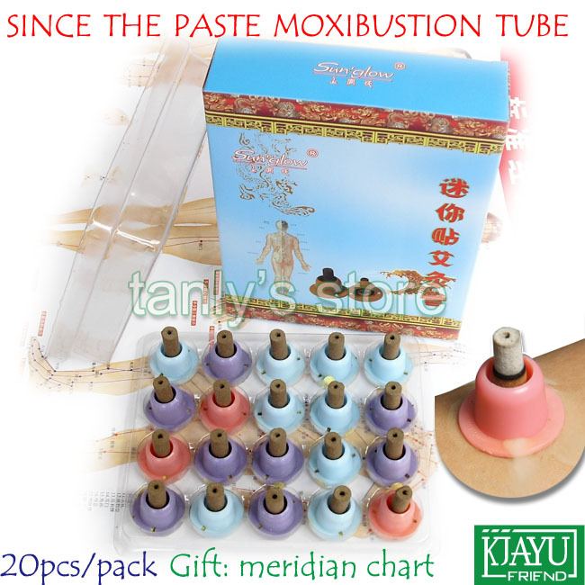 Smoke since the paste moxibustion tube self-stick moxa roll Sun`glow warm moxibustion roll 8x25mm 20pieces/pack
