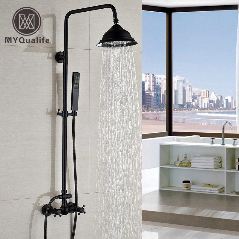 இ8 Brass Rainfall Shower Head Shower Mixer Taps Wall Mount Adjust ...