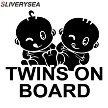 SLIVERYSEA Car-styling Stickers TWINS ON BOARD Car Stickers Motorcycle Car Accessories Full Body Car Sticker #B1067 sliverysea big sale car styling new baby on board car sticker car vinyl body car decals stickers for bwm honda hyundai skoda