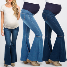 Boot Cut Jeans Women Pregnancy Maternity Clothing Pants For Pregnant Clothes Nursing Trousers Denim Womens