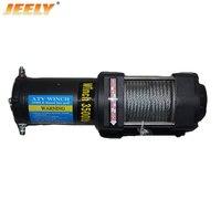 JEELY пульт дистанционного управления 3500LB автомобильная лебедка, электрическая лебедка В 12 В, 4X4/UTV/ATV лебедка