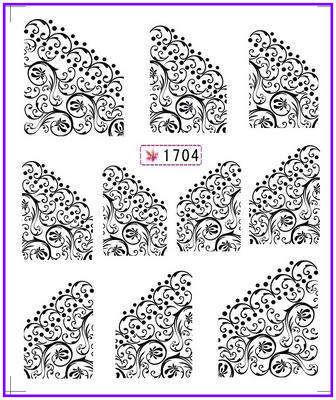 1X  Nail Sticker French Smile Water Transfers Stickers Nail Decals Stickers Water Decal Opp Sleeve Packing #SY 1x nail sticker palm tree flamingos water transfers stickers nail decals stickers water decal opp sleeve packing yu665