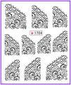 1X etiqueta engomada del clavo de la sonrisa francés Water transfer pegatinas Nail Stickers Decals agua Decal Opp manga embalaje #1704