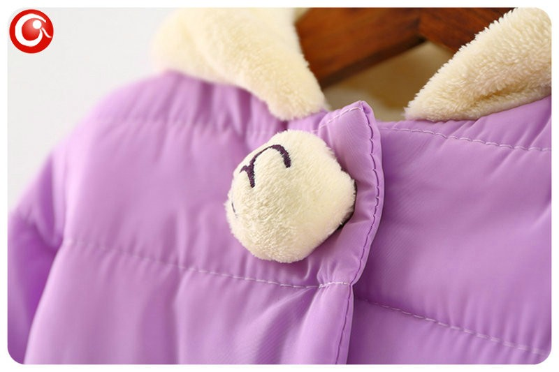 Winter Baby Girls Cartoon Rubbit Coat Thicken Kids Girl Snow Jacket Fleece Hooded Cotton Padded Outwear Christmas Clothes 2016 (10)