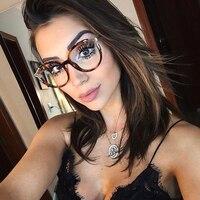 Vintage Plastic Metal Frame Women Round Frame Fashion Eyewear Style Glasses Frame