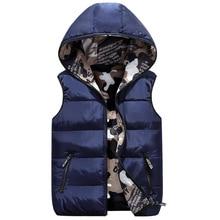 Children Hooded Vests 2019 Autumn Winter Fashion Kids Two-Sided Wear Outerwear Coat For Boys Girls 3-16 Years Waistcoats Clj277