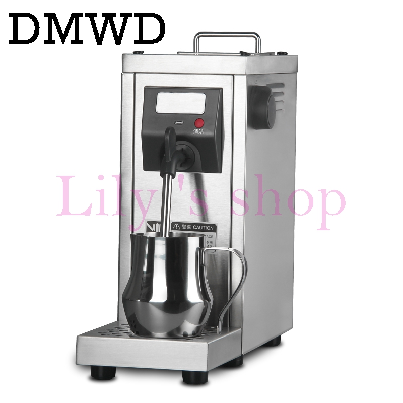 DMWD Milk Steamer Commercial Pump Pressure Milk foam Frother Espresso Coffee Steam maker Stainless Steel Water Boiling Machine 18 free ship steam boiling milk bubble machine commercial tea shop coffee and bubble milk maker fully automatic milk frother