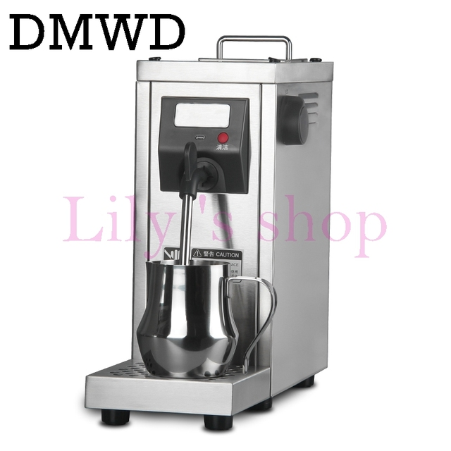 Dmwd Milk Steamer Commercial Pump Pressure Foam Frother Espresso Coffee Steam Maker Stainless Steel Water