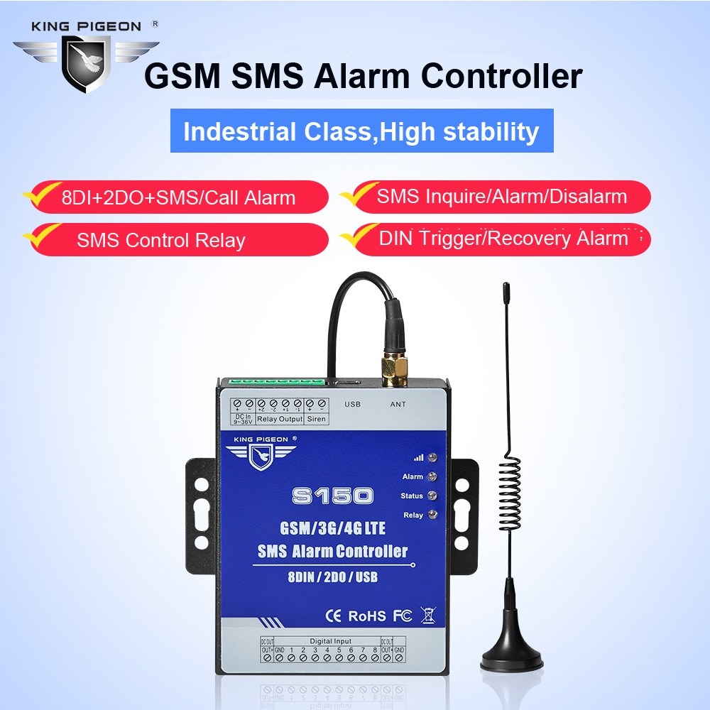 Image 3 - GSM Alarm 3G 4G Cellular RTU SMS Relay Switch Industrial IoT Remote Monitoring System in built watchdog 8DIN 2DO S150-in Alarm System Kits from Security & Protection
