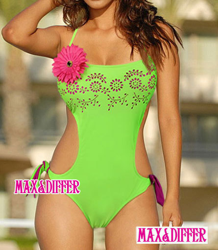 Sexy Corsage Hollow Out One Piece MONOKINI SWIMSUIT