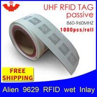 Comparar UHF etiqueta RFID adhesiva extranjero 9629 EPC6C mojado incrustaciones de 915mhz868mhz860 960MHZ Higgs3 1000 Uds envío