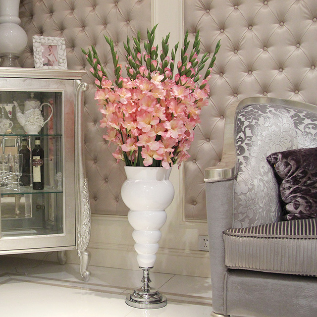 Decorate The Living Room Floor Gladiolus Flower Artificial