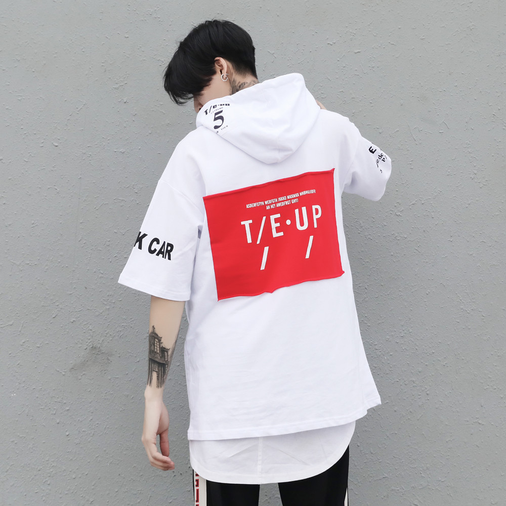 2018 Tide Tide Brand Of Hip-hop Country Short Sleeve Fivepence Sleeve Even Hat T Pity Will Code T03 P55 Price Control 79