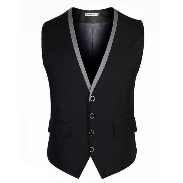 New Arrival Men Suit Vest Brand Clothing Spring Autumn Fashion Sleeveless Dress Man Business Blazer Tops Slim Fit Waistcoat