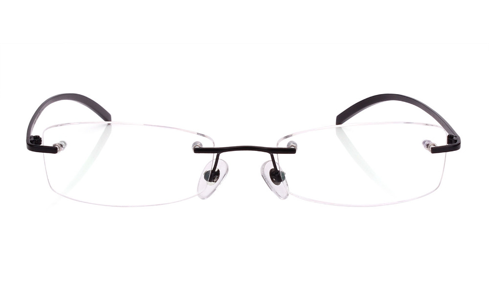 3a18b3a764 Agstum Rimless Frame Pure Titanium Classic Prescription Eyeglasses Rx Clear  Lenses-in Eyewear Frames from Men s Clothing   Accessories on  Aliexpress.com ...