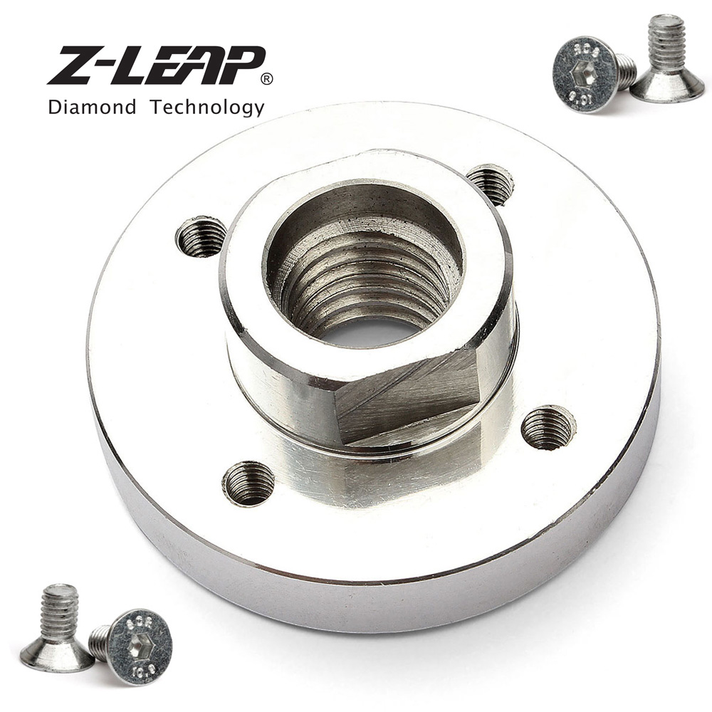 Z-LEAP 2 Pcs Angle Grinder Accessories Saw Blade Adapter Support Fixed Thread 5/8-11 Or M14 Aluminum Rigid Flange 22.23mm