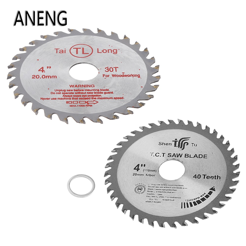 ANENG 4 inch 30T / 40T Circular Sawing Blade Wood Cutting Round Discs Sawing Cutter Tools