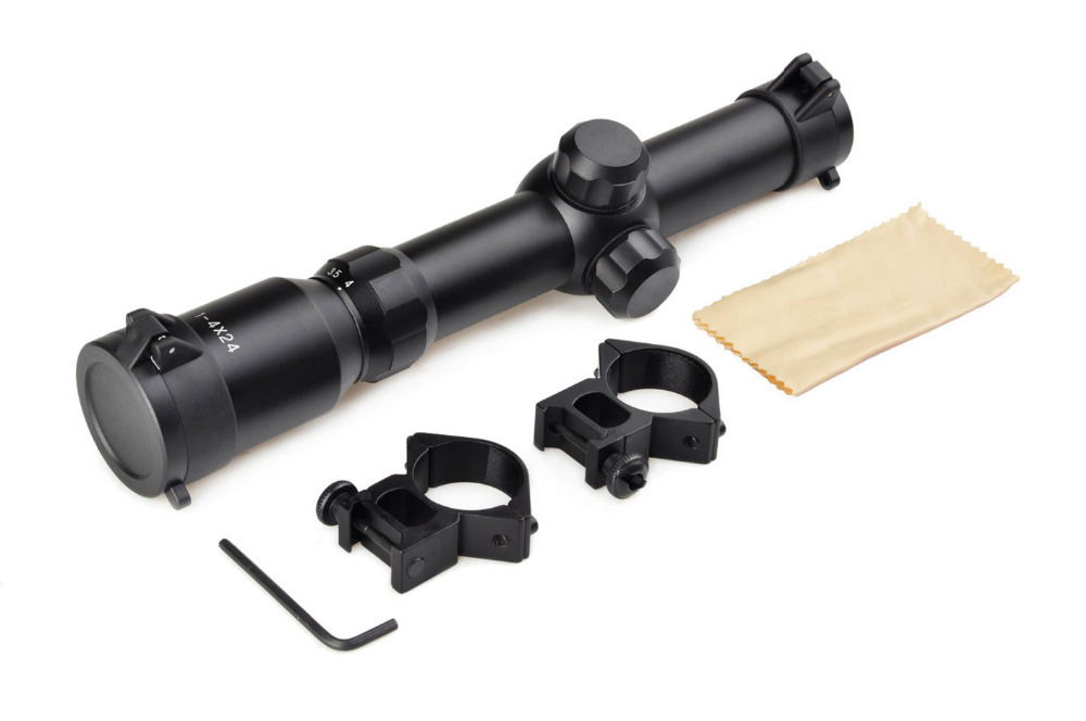 NEW PRODUCT 1-4x24 Adjustable Optical Sight Etched Riflescope Reticle Sight Scope for gun Rifle Hunting 1 4x24 r12 r29 glass reticle tactical riflescope red illuminate optical sight for hunting rifle scope