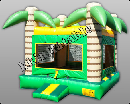 New inflatable jumping house with plam tree