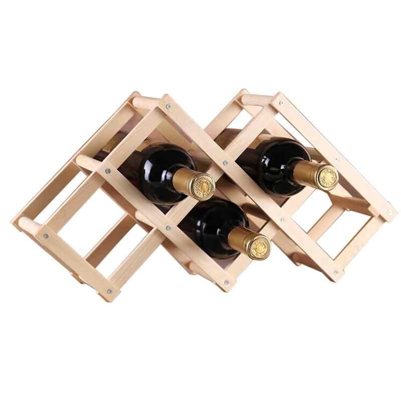Классическая деревянная красное вино стойки пиво складной 3/6/10 держатель бутылки Кухня бар Дисплей полка организатор дома Украшение стола