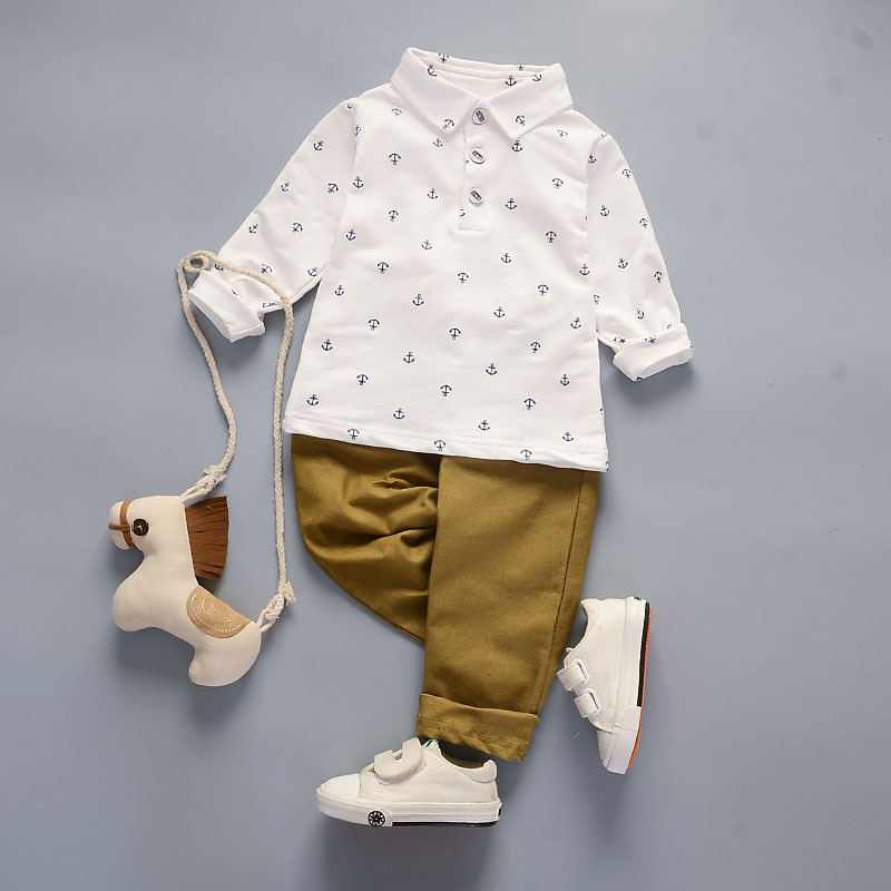 2017 Spring fashion baby Boys clothes Casual Clothing Sets cotton cartoon A hook shirt+Pants 2Pcs Outfit baby boys Clothes Set