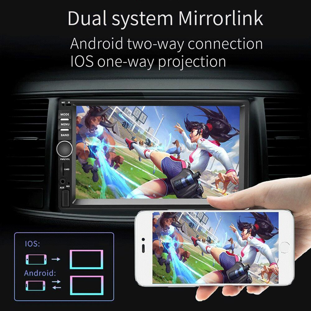 """Image 4 - AMPrime Car Radio 2din Android Audio Multimedia Player GPS Navigation 7"""" Universal Car Stereo Wifi Bluetooth FM Mirrorlink Auto-in Car Multimedia Player from Automobiles & Motorcycles"""
