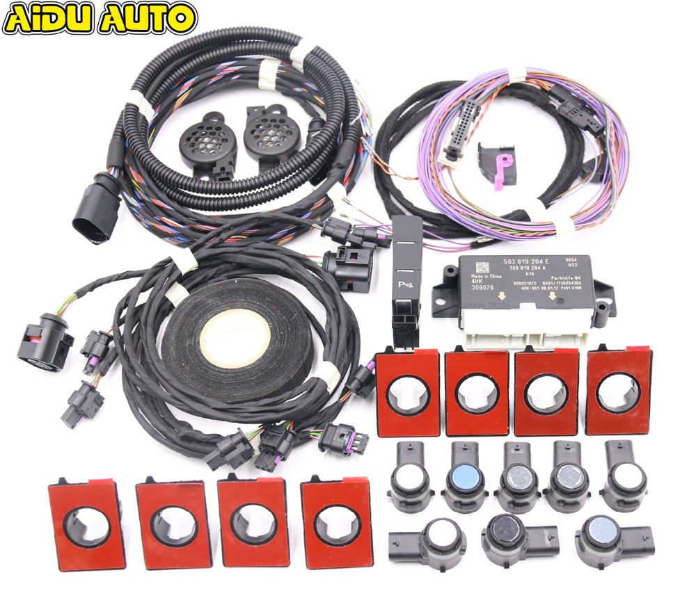 USE FOR VW Golf 7 MK7 VII Front and Rear 8K OPS Parking Pilot 5QD 919 294 E LHD UPGRADE KIT 5Q0919294E park pilot parking front and rear 8 sensors update 8k pdc ops for skoda mqb octavia