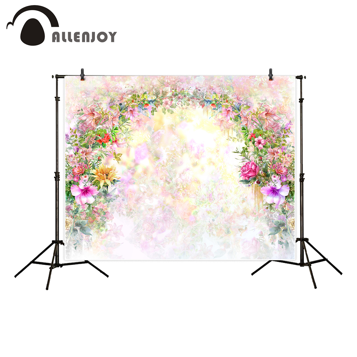 Allenjoy photography backdrop flower door wedding children painting colorful background photo studio photocall photo shoot allenjoy photography backdrop library books student child newborn photo studio photocall background original design